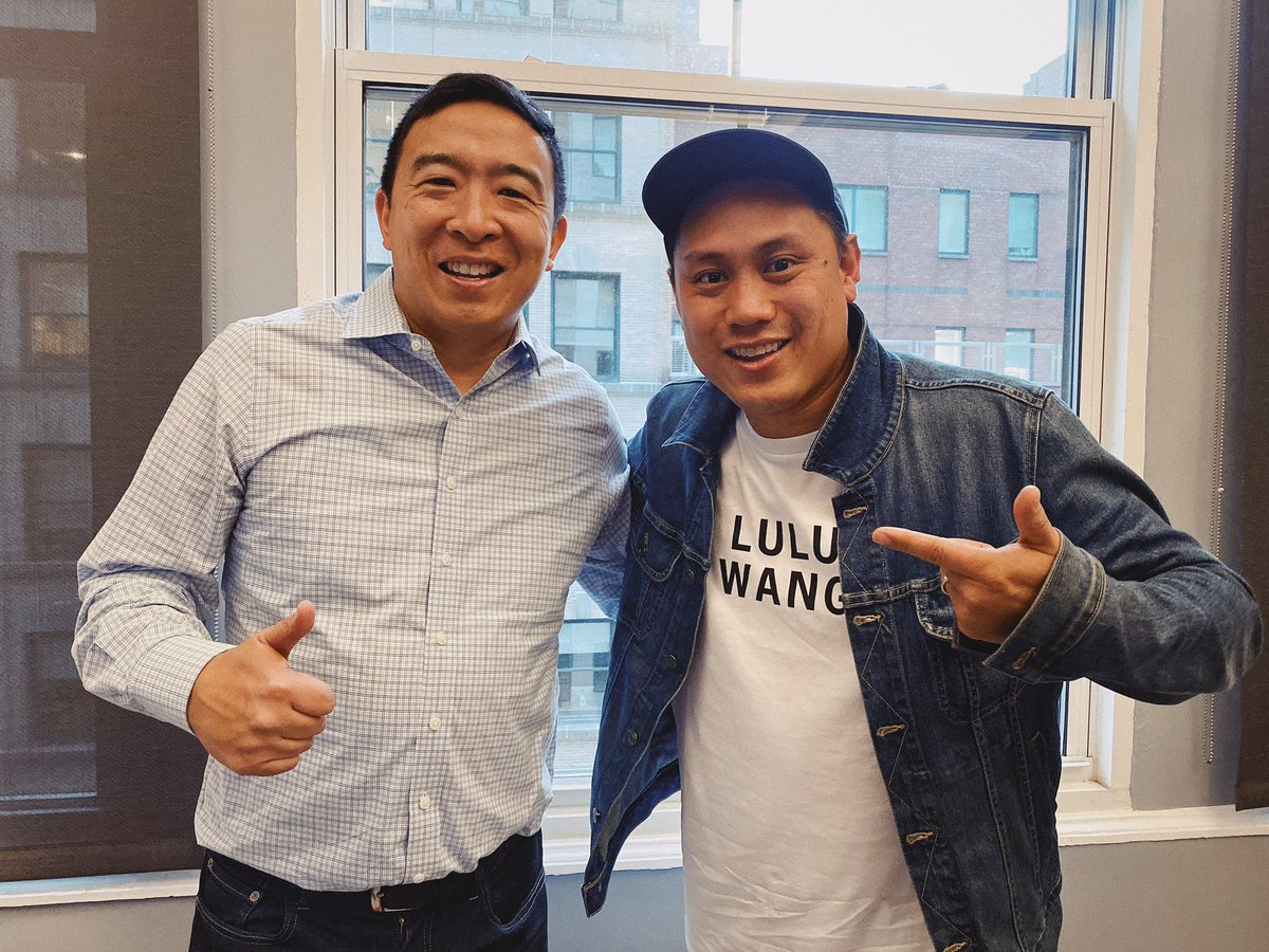 Look who came and visited the edit room today.... thanks @AndrewYang  for showing us all it's possible. What an inspiration to watch the American dream in motion.
