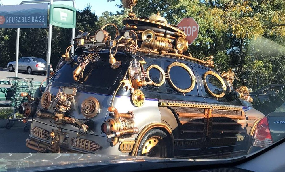 #Car 🚗 Awesome of the Day: Silver #Steampunk ⚙️ Custom Vehicle in #Asheville NC #USA 🇺🇸 via @Based_Jedi #SamaCars