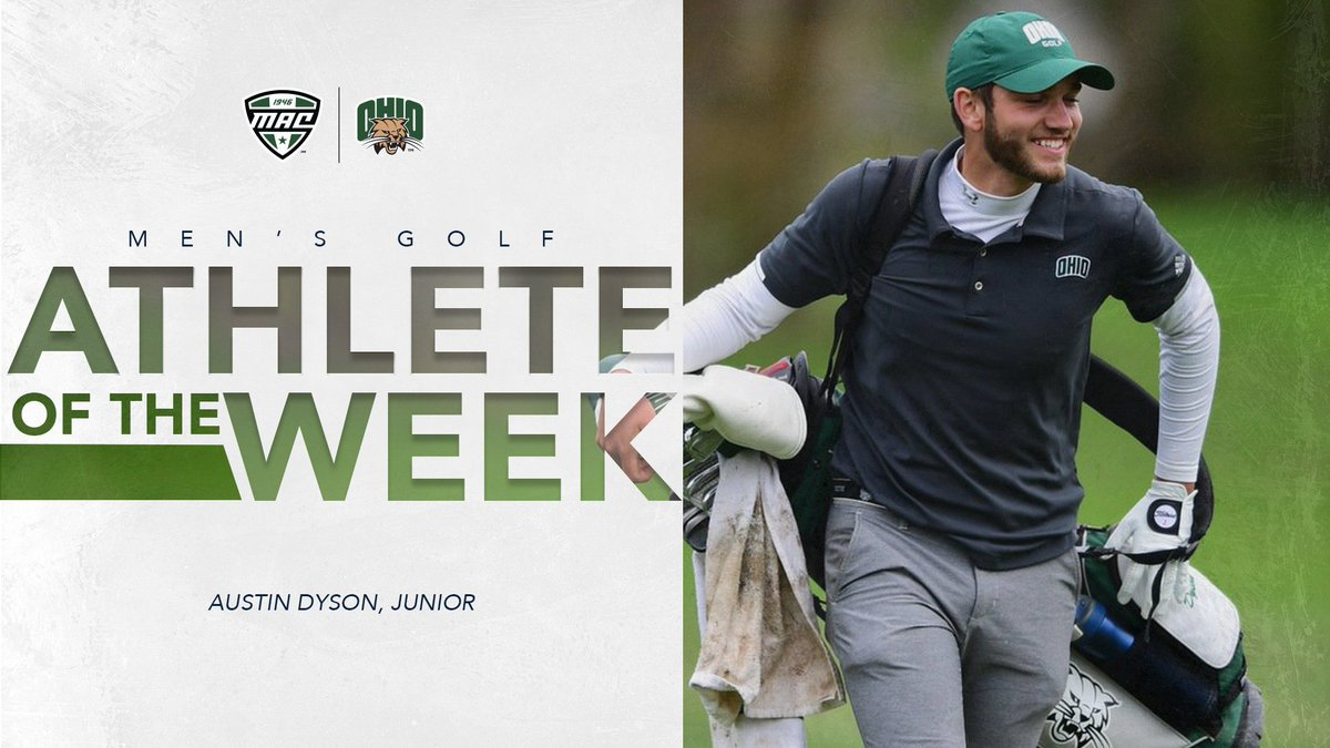 Congrats to junior @austindyson14, who has been named the @MACSports Men's Golfer of the Week for the first time in his career!  📰Read more ➡️ https://t.co/VKmMJ3wOtJ  #BleedGreen https://t.co/wsPSgx8oEe