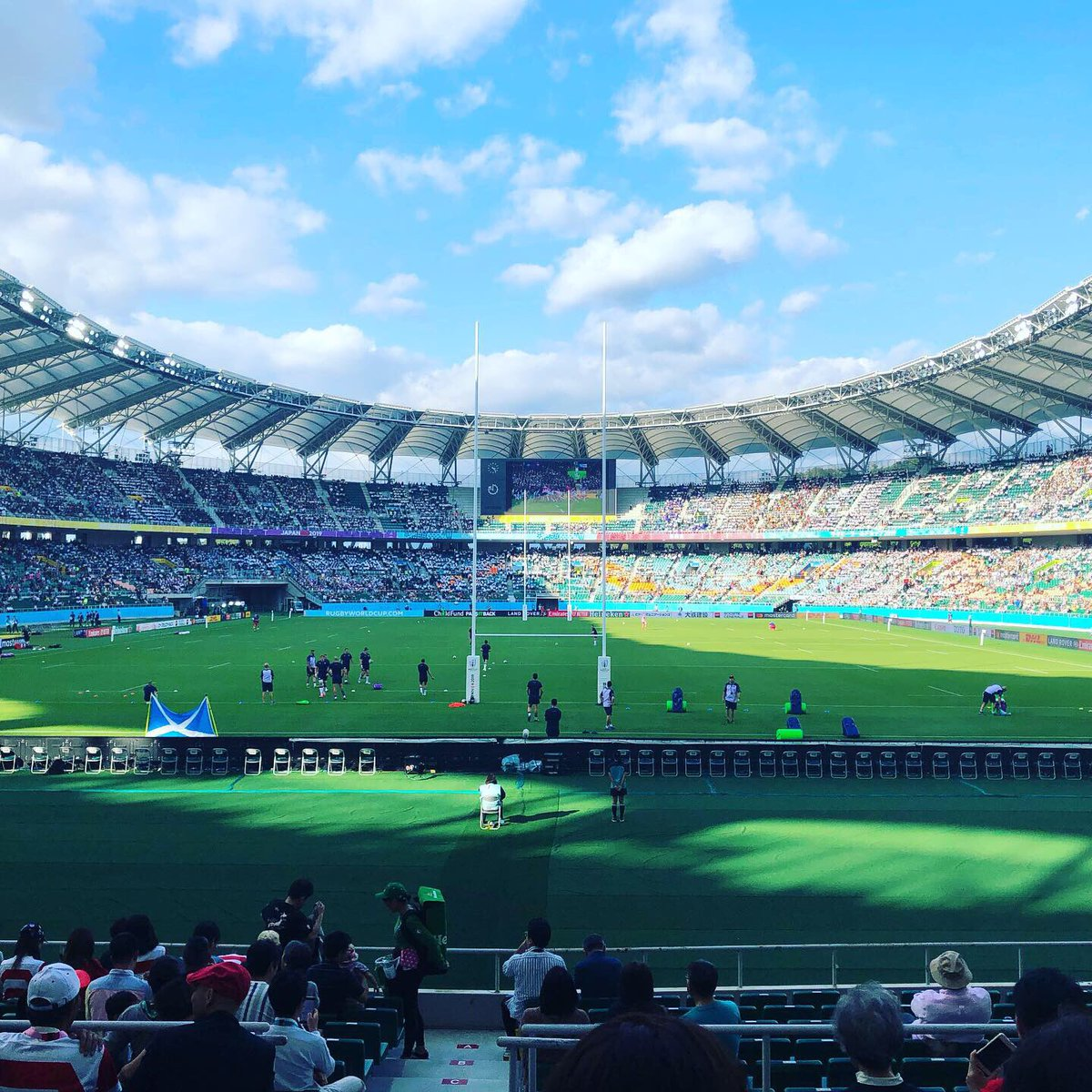@scottcummings96 @RugbySco It was a real once-in-a-lifetime experience to watch #SCOvRUS at #RWCShizuoka last week🏉We loved your amazing performances throughout #RWC2019 and hope you'll have a chance to visit Japan again🥰🇯🇵Good luck in the new season with Warriors🤞🏻✨🏴󠁧󠁢󠁳󠁣󠁴󠁿💙