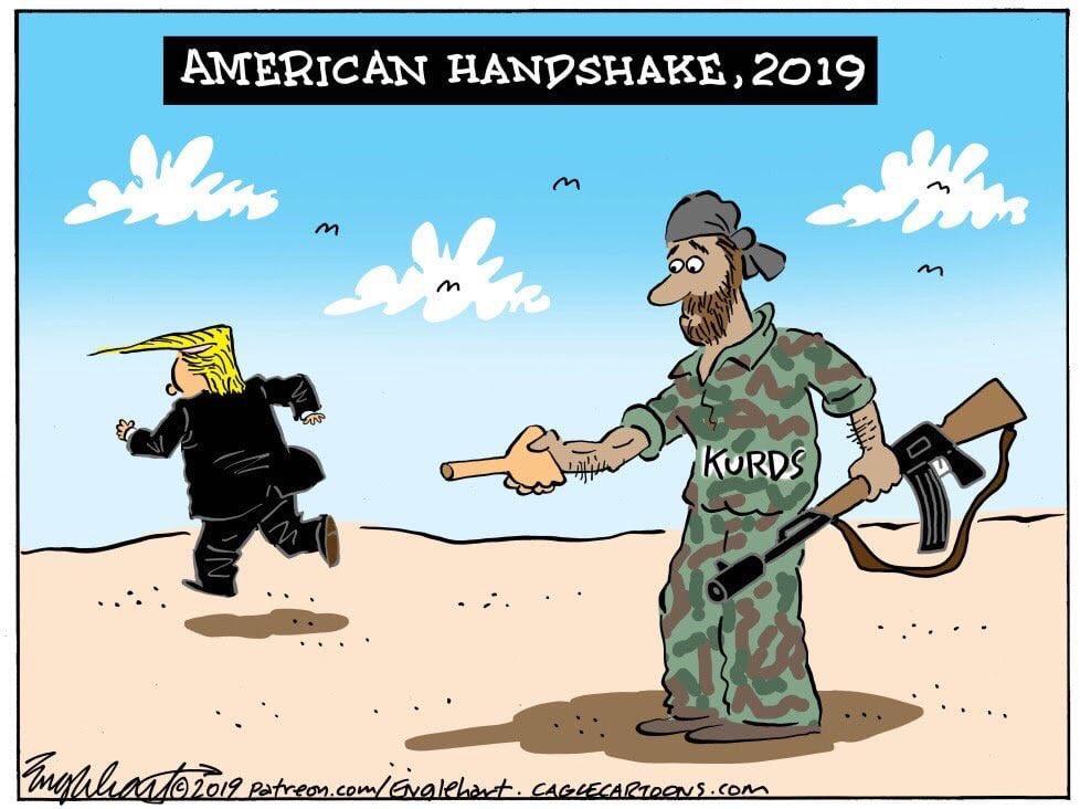 The sob. Trump really is a sob. #ImpeachDonaldTrumpNOW #KurdsBetrayedByTrump #LindseyGrahamIsADisgrace