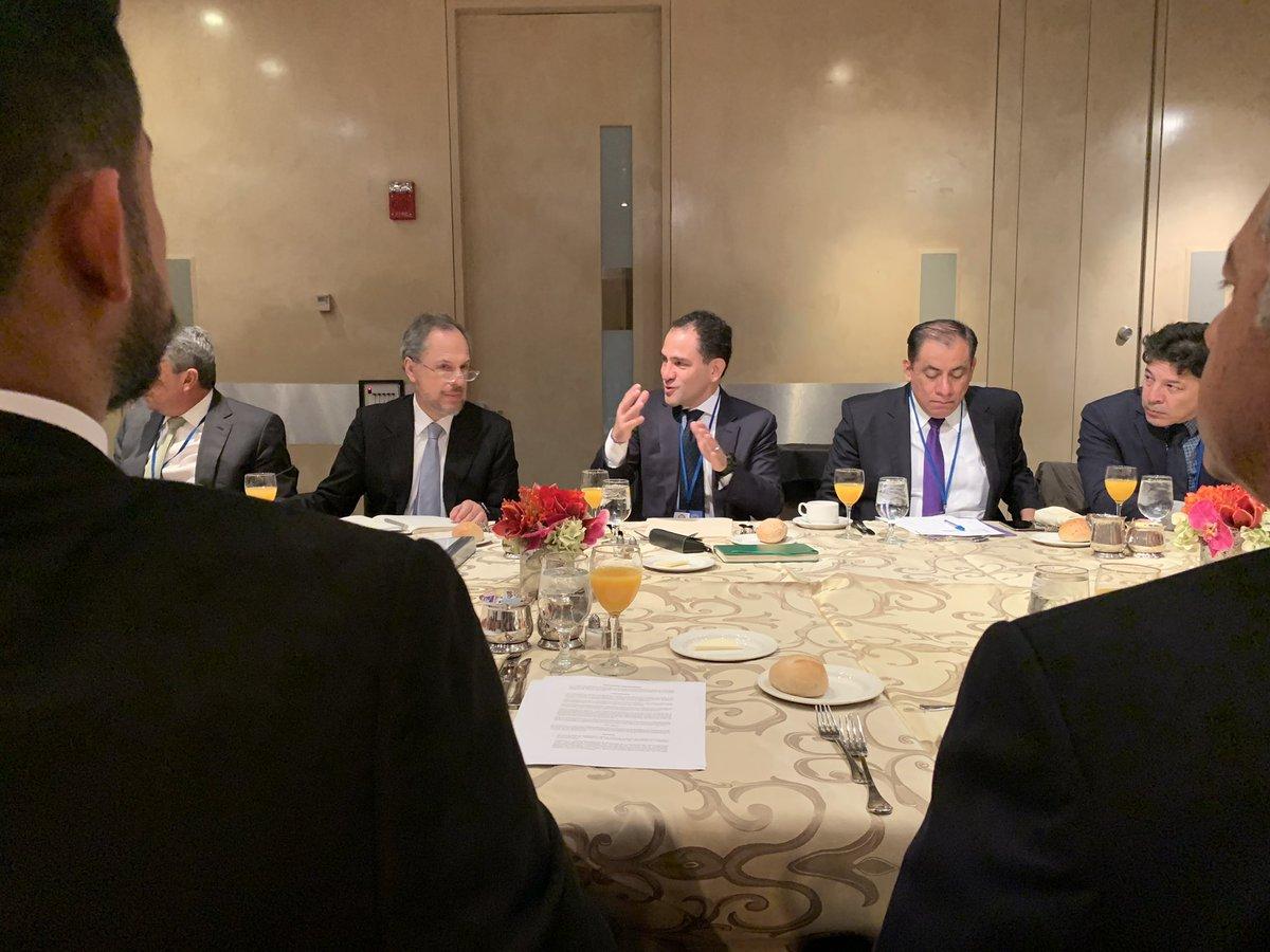 1. Desayuno con Ministros de Hacienda de Centroamérica a las 7:30am, donde exploramos los proyectos que vamos a tener. (Entre ellos: un despacho de aduana en conjunto con Guatemala y un mercado regional de deuda).