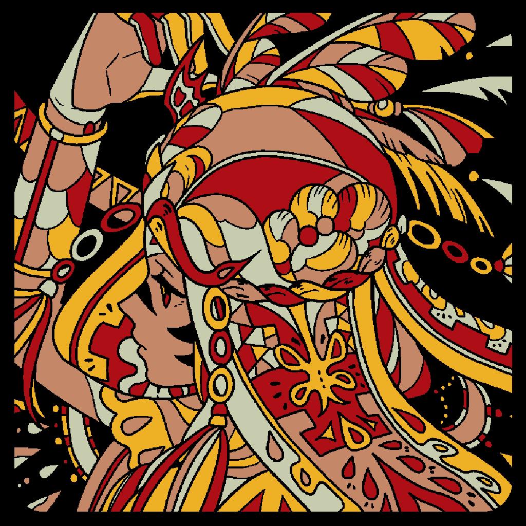 Sp.17 「どこかの民族衣装」#塗り絵パズル