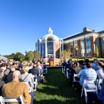 Today, hundreds of people gathered as HPU celebrated the official grand opening of the Wanek School of Natural Sciences! 🧬🧪 The school is named in honor of Todd and Karen Wanek and houses biology, chemistry and physics.💜 #HPU365