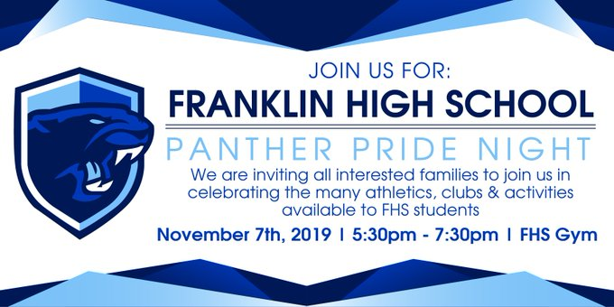 Save the Date: Panther Pride Night = Nov 7
