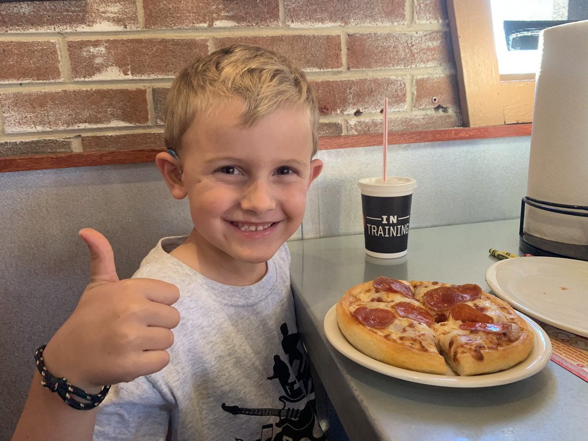 This guy got his first @bookitprogram pizza! Took me straight back to my childhood!