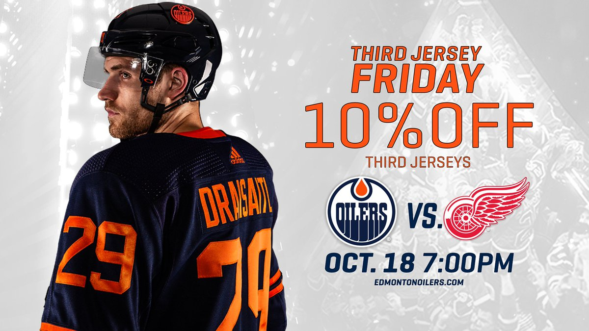 Edmonton Oilers On Twitter Tjif Third Jersey It S Friday The Oilers Will Debut Their Alternate Jersey Tomorrow Rock The Adizero Blues At All 2019 20 Friday Home Games If You Don T