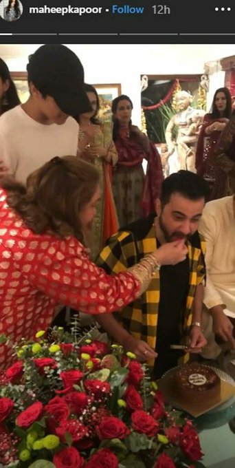 Sanjay Kapoor is a happy man as he celebrates his birthday and Karwa Chauth with family
