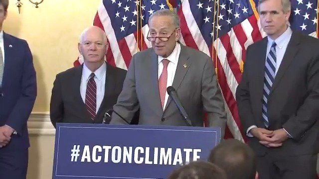President Trump has failed to offer any proposal to address climate change In almost every case, his policies and executive actions have made the dangers of the climate crisis worse And Senate Republicans demonstrated today that they are willing to bury their heads in the sand