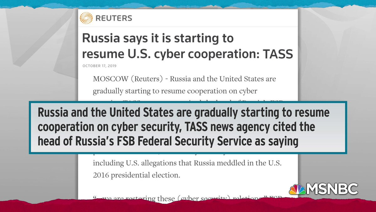 A surprise announcement from the Russian news service, TASS: According to the FSB in Russia, the US government has now agreed to carrying out joint cyber operations with Russian intelligence. What?
