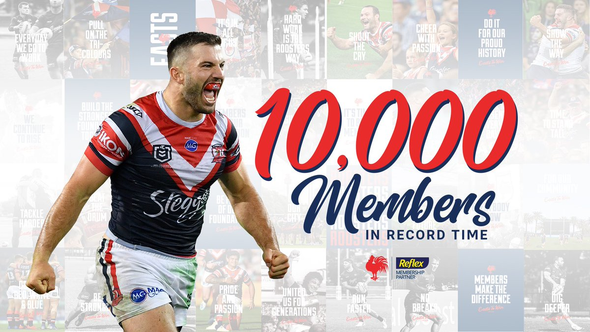 Well done @sydneyroosters, you're only 12,200 behind... 🤦‍♂️🐇❤️💚  #ForeverInOurShadow #GoRabbitohs
