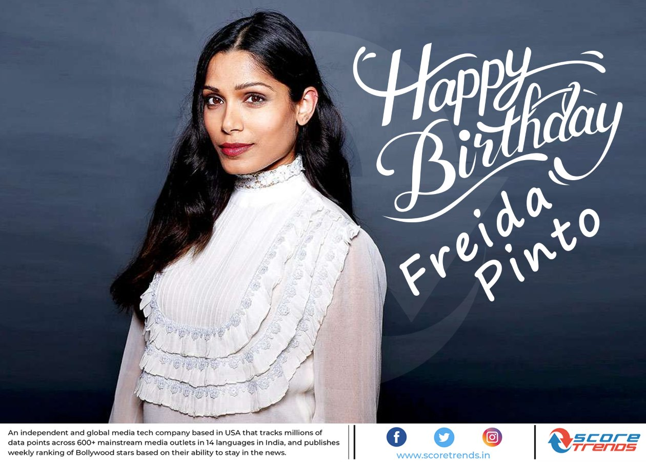 Score Trends wishes Freida Pinto a Happy Birthday!!