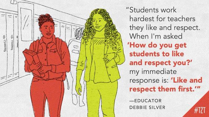 RT @teacher2teacher  Sometimes, building relationships can mean going back to basics, says educator  @DrDebbieSilver  ! #WednesdayWisdom  #edchat