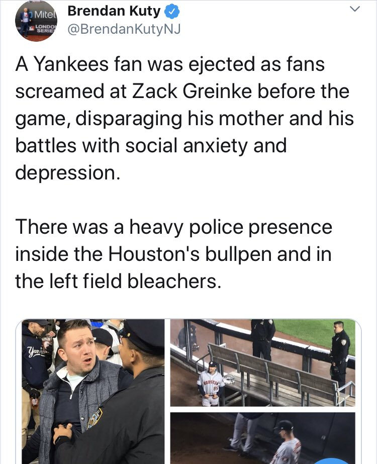 I may be a @Yankees fan, but this is unacceptable. Anyone wondering if we still have a long way to go - yes we do. Check this tweet. Mental Health shaming? Would he get the same lip battling diabetes? #5in5 face the same, at diff levels - until that's understood, this won't stop.