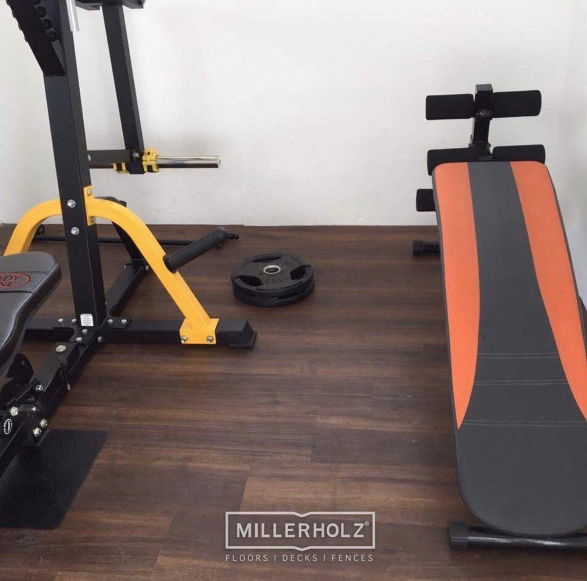 Machines rest easy on our wood-look gym flooring.   https://millerholz.com/flooring/   Call : +94 777 77 1775  #millerholz  #evoherf  #gym  #floor  #flooring  #foottraffic  #hard  #perfect  #workout  #wood  #Interiordesign  #Architecture  #tiles  #vinyl  #carpet  #Lka