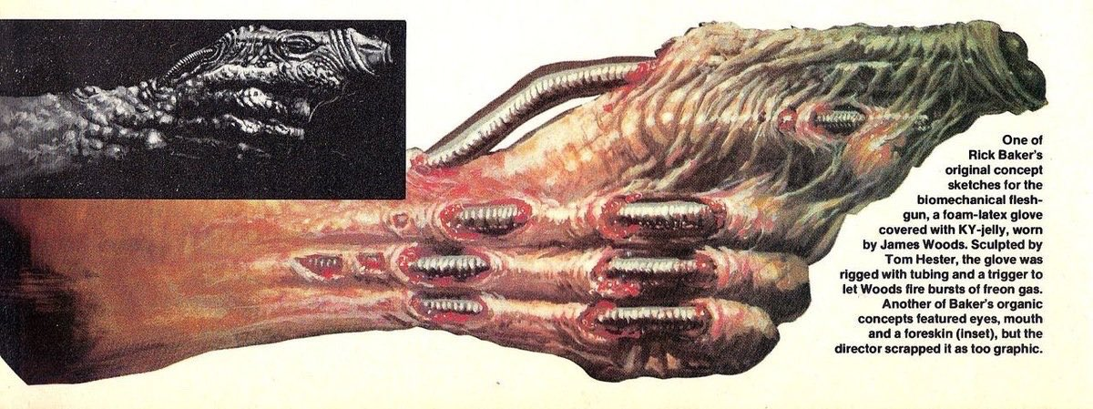 Rick Baker concept art for VIDEODROME (1983).