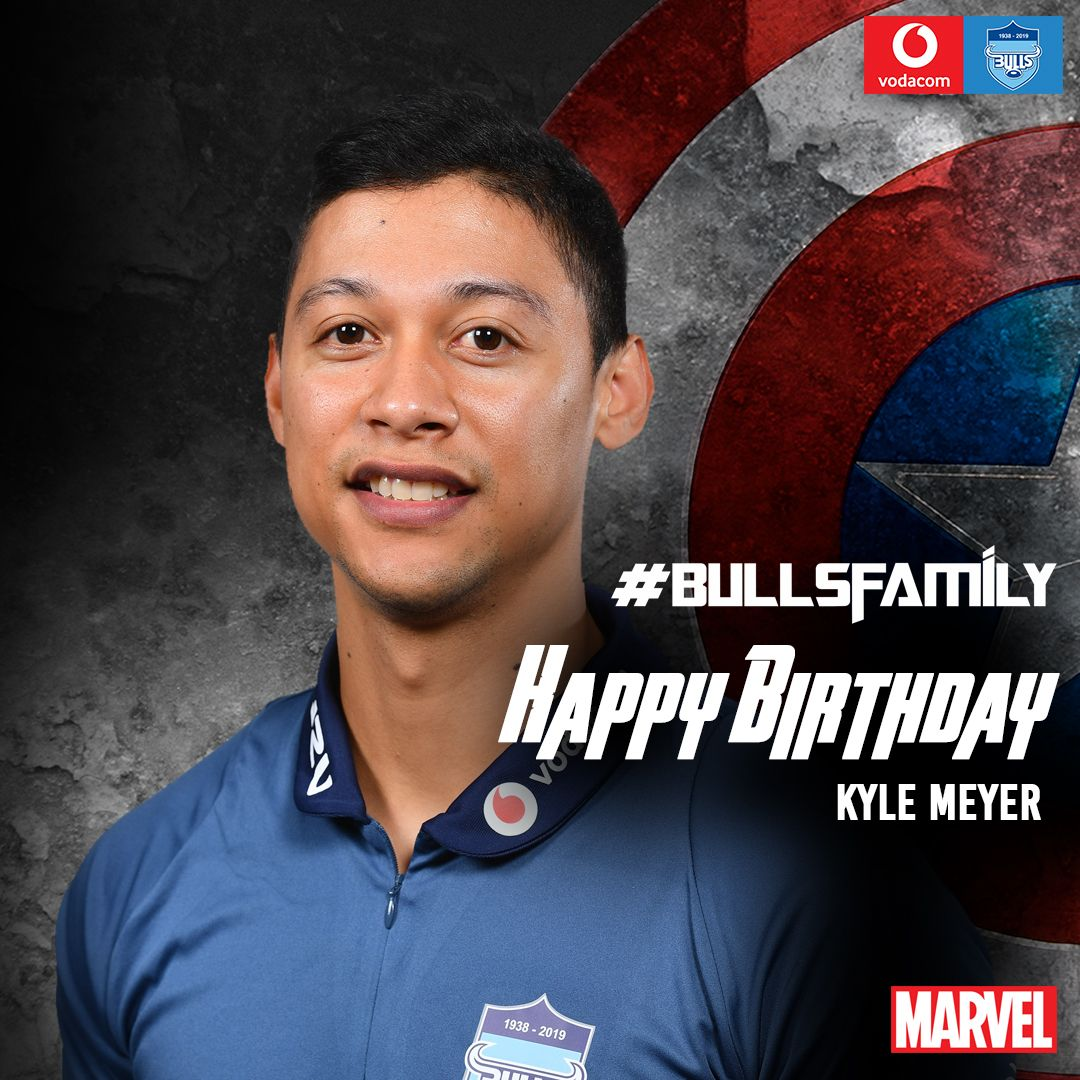 The Vodacom Bulls would like to wish Kyle Meyer a very happy birthday. We hope that this year is filled with great memories. Enjoy your special day. #BullsFamily
