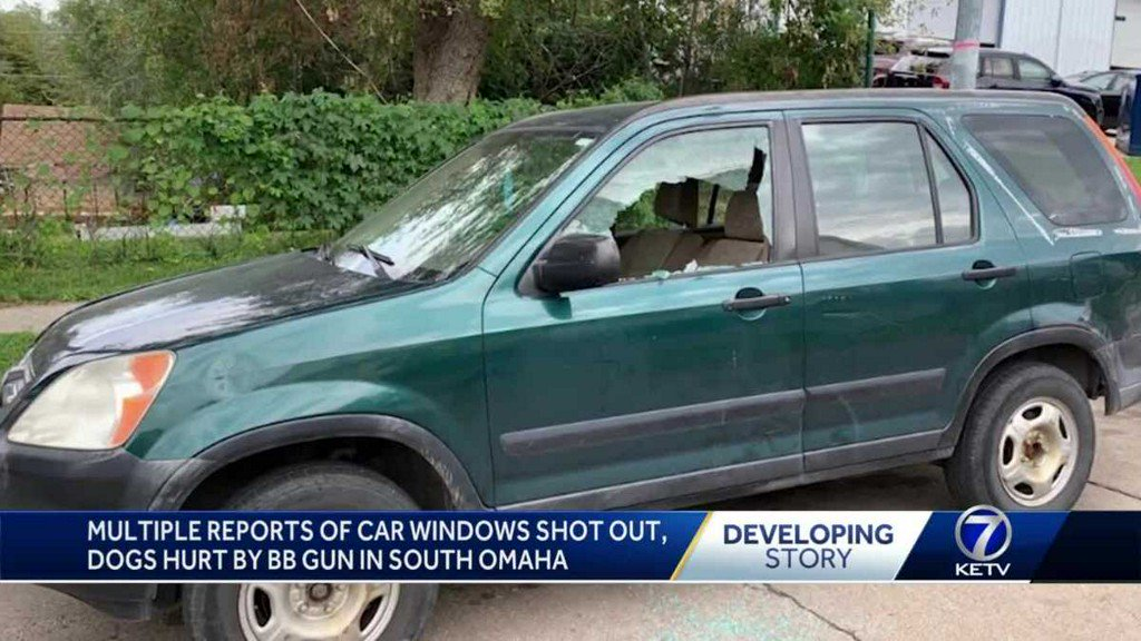 Multiple reports of car windows shot out, dogs hurt by BB gun in South Omaha ketv.com/article/multip…