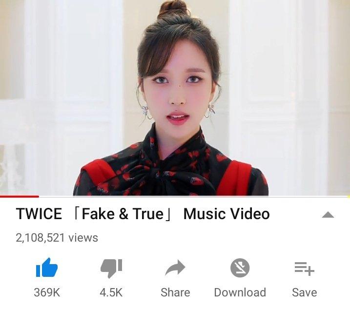 Twice Youtube Data S Tweet Fake True Mv Has Surpassed
