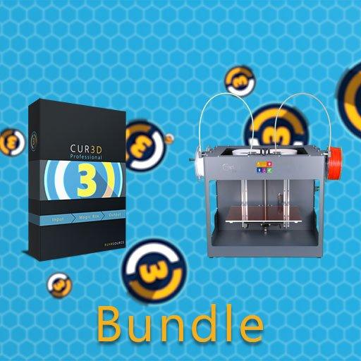 Dieses Bundle besteht aus einer CUR3D Jahreslizenz (Elements/Advanced/Professional) nach Wahl und einem CraftUnique CraftBot 3 Dual Extruder 3D-Drucker.  #3DDrucker #3DPrinter #Bundle #CraftBot #CraftBot3 #CraftUnique #CUR3D #DualExtruder