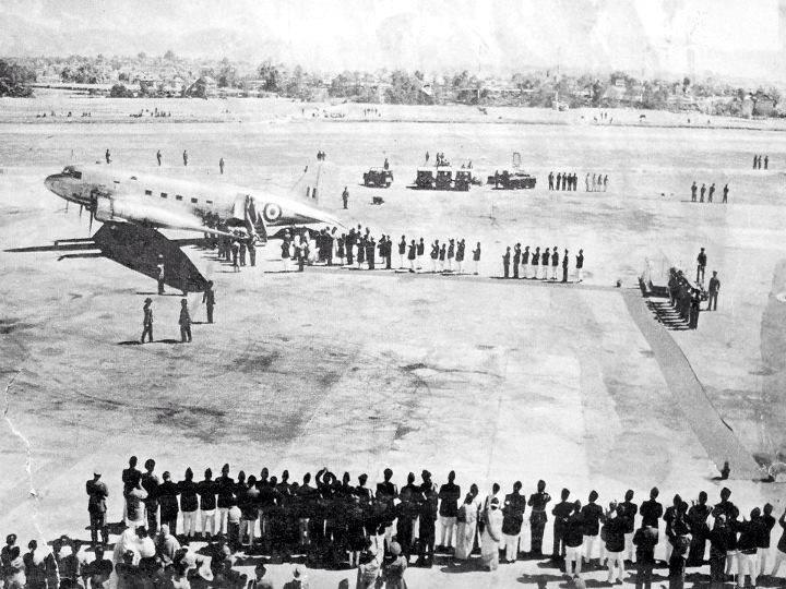 Tribhuvan International Airport during it's beginning in 1950's