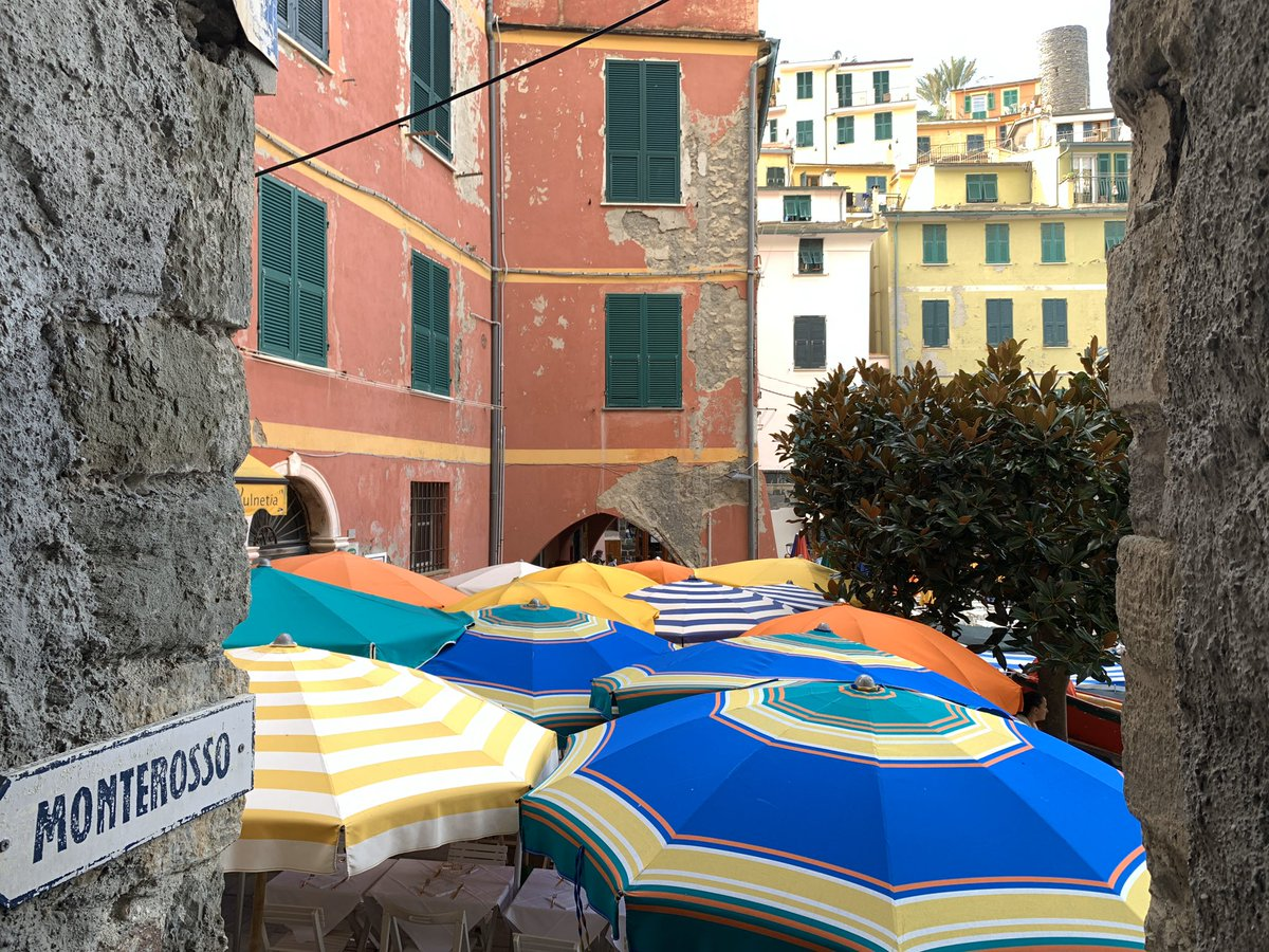 In Cinque Terra Italy right now and the colors are spectacular! Subdued yet warm, oozing with light, time, and history. #CultureTrav