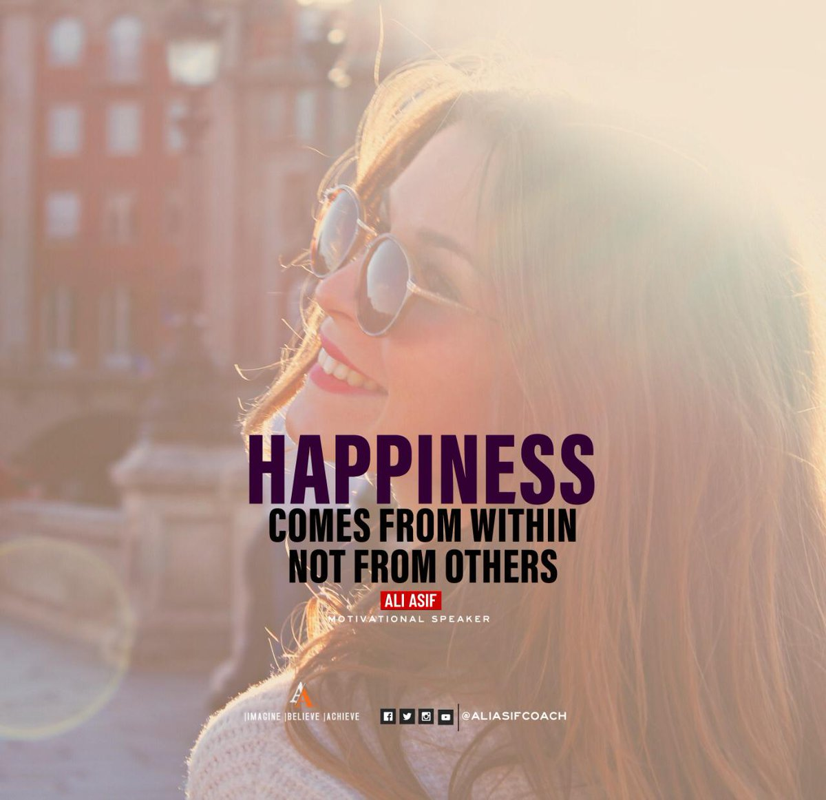 Happiness comes from within not from others. #FridayThoughts #FridayMotivation #BlessedFriday #FridayFeeling