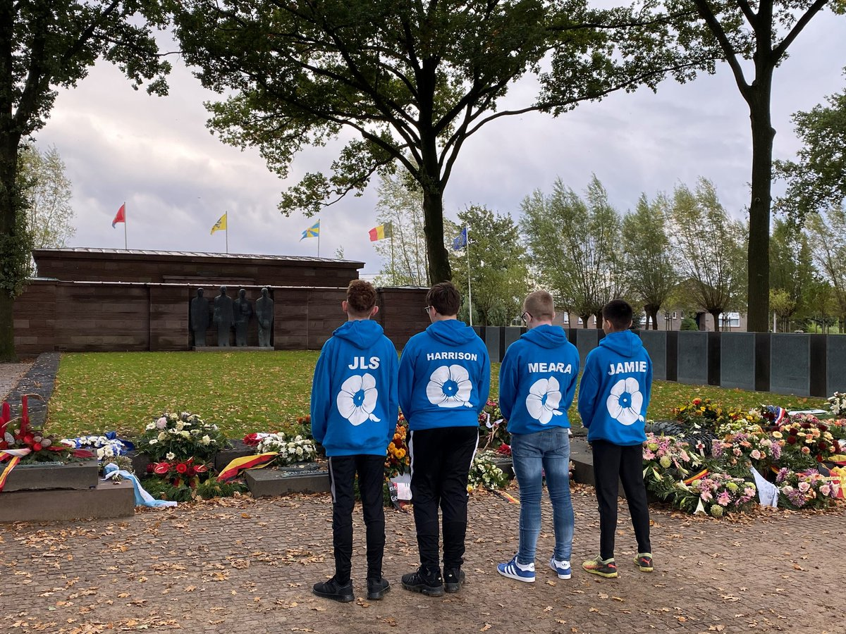 Students have started their second day at Langemark German War Cemetery to pay their respects. #NeverForget