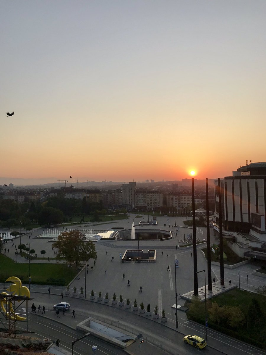 Up early to catch the sunrise in Sofia before a jam-packed day of discussions on changing dynamics of #illicittrade along the Balkan trafficking route