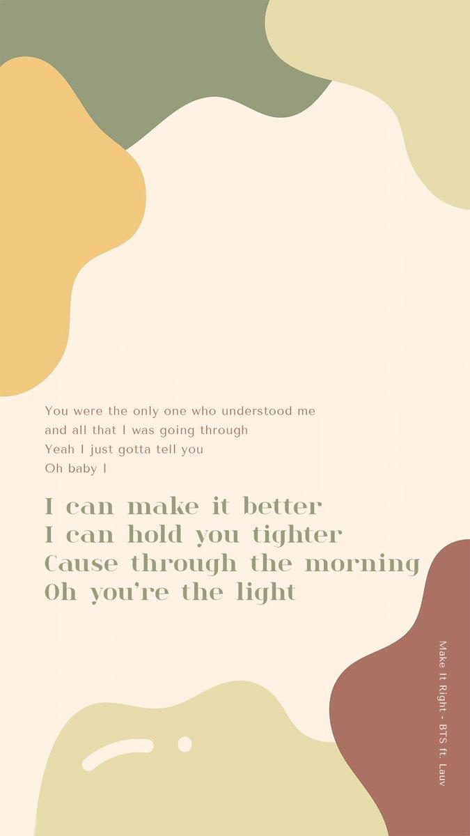 Bts Lyrics On Twitter I Can Make It Better Lyrics Quotes