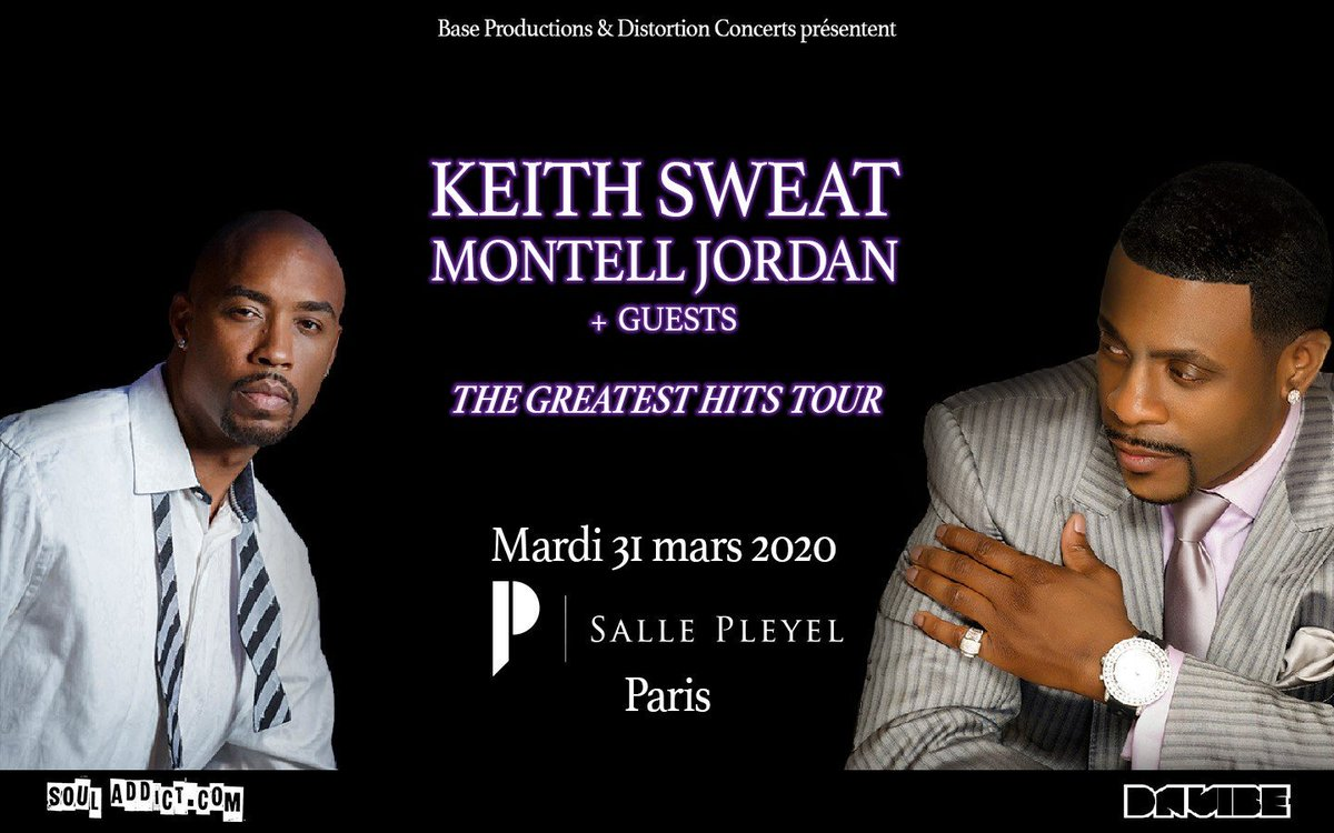 [ DÉPART DES VENTES DÈS MAINTENANT ] @keith_sweatOG  & @montelljordan  + Guest en concert exceptionnel ! Mardi 31 mars 2020 à la @sallepleyel   BILLETTERIE >> https://t.co/VnE1ib8Nzd https:/