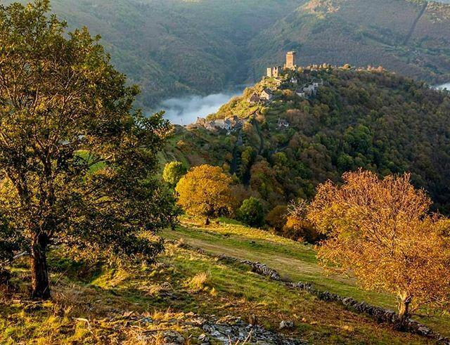 J'adore cet endroit, c'est l'Aveyron du Nord terre familiale... De la moyenne montagne, des châteaux,  des ardoises, des vieilles pierres, des châtaignes, des rivières avec vue  Chateau Valon #tous_en_aveyron #Occitanie #aveyronvivrevrai #naturephotography #naturelovers #av…pic.twitter.com/GOzveJksAb