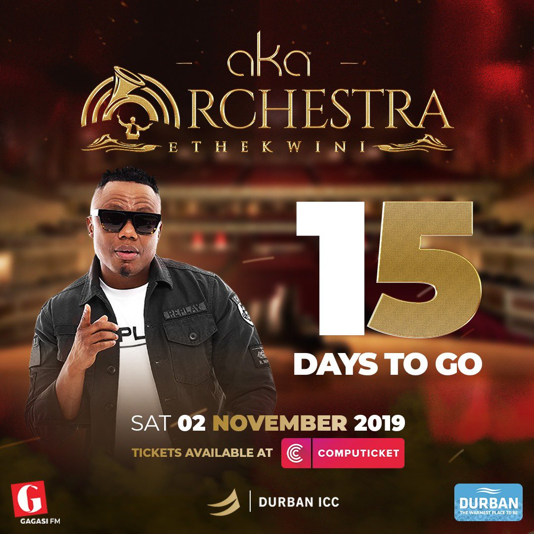 Thank You for all the LVE ... we counting down!!! 15 DAYS UNTIL #AKAOrchestraEthekwini  <br>http://pic.twitter.com/bf3cNeLUXv