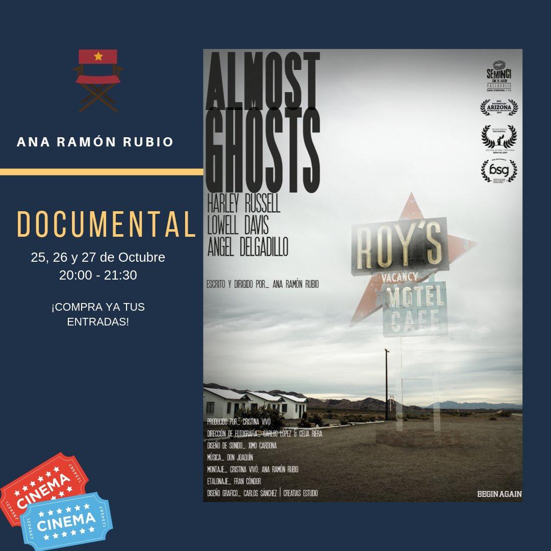 ALMOST GHOSTS, en nuestras sesiones de cine con taquilla los días 25, 26, y 27 de Octubre. Taquilla: 5€ (disponible en nuestra web) link: https://n9.cl/s95.  #Cine #SesiónesDeCineAlUso #Documental #Malasaña #Route66 #Ruta66 #Industria #Cineastas #LaMorada #SalaReinaMora