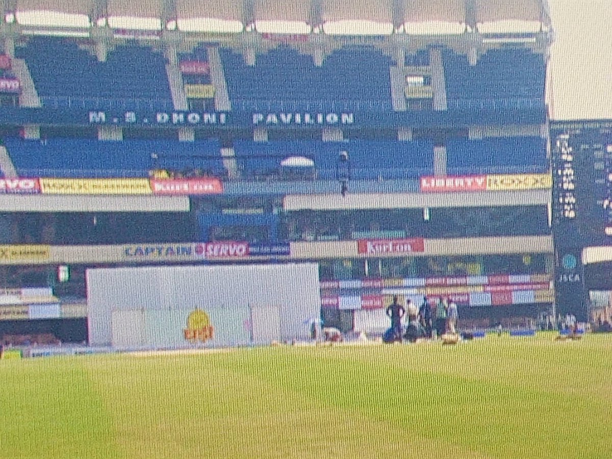 The JSCA International Cricket Stadium in Ranchi, Jharkhand and the MS Dhoni Pavilion stand... #INDvsSA #IndvSA https://t.co/UDZoSSguMo