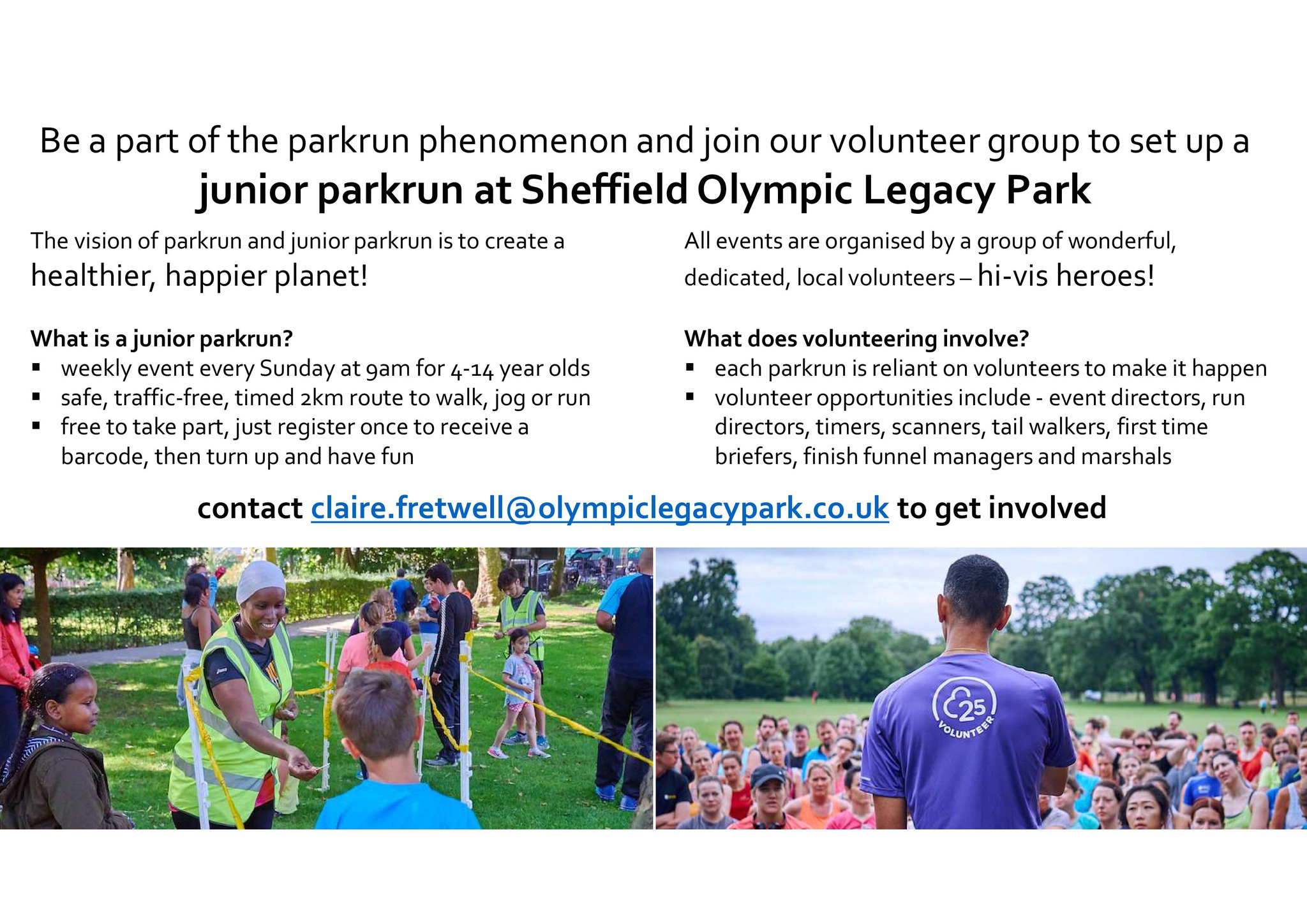 Sheffield Olympic Legacy Park On Twitter It Was Great To Meet Some Of Our Juniorparkrun Volunteers This Week Plans For The Launch On Sun 17 Nov Are Well Underway We D Still