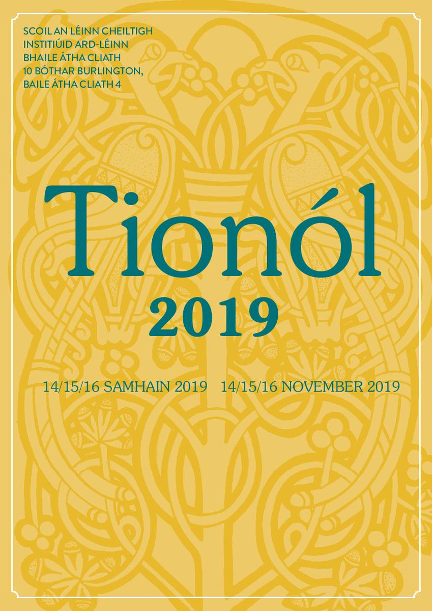 test Twitter Media - Tionól 2019 will take place on Thursday 14th, Friday 15th and Saturday 16th November @SCSLibrary  @DIAS_Dublin #DIASdiscovers #SCSTionol2019 Tionól programme is now available https://t.co/vAsOGhCodq https://t.co/uT7WHIRuoH