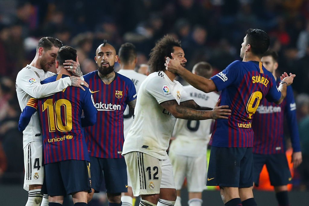 Spanish federation confirms that El Clasico between Barcelona and Real Madrid is postponed due to protest fears.#Bet9ja #RewardForPassion #football #naija #instasoccer #lovefootball #soccertime #soccerstars #sportsbets #freetips #footballbet #footballgoals #bettingpredictions