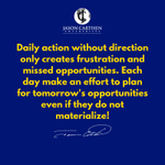Image for the Tweet beginning: Daily action without direction only