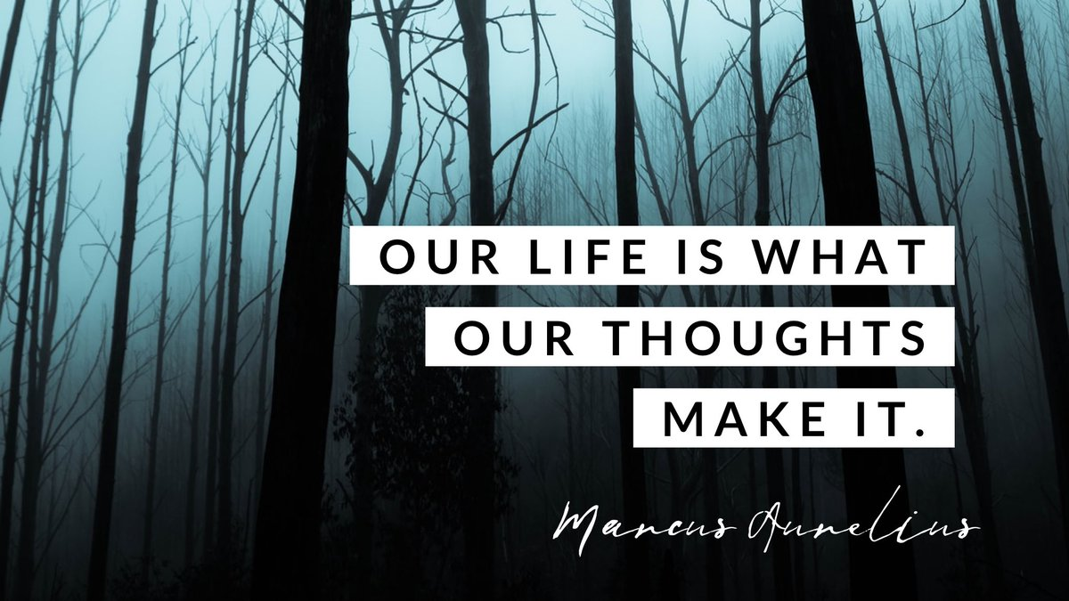 """""""Our life is what our thoughts make it.""""-Marcus Aurelius #FridayMotivation #wordswagapp #WordsOfWisdom https://t.co/Buwkwjo0ev"""