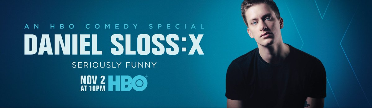 Can't wait! My new special premieres Nov. 2 on @HBO in USA & Canada. #DanielSlossX