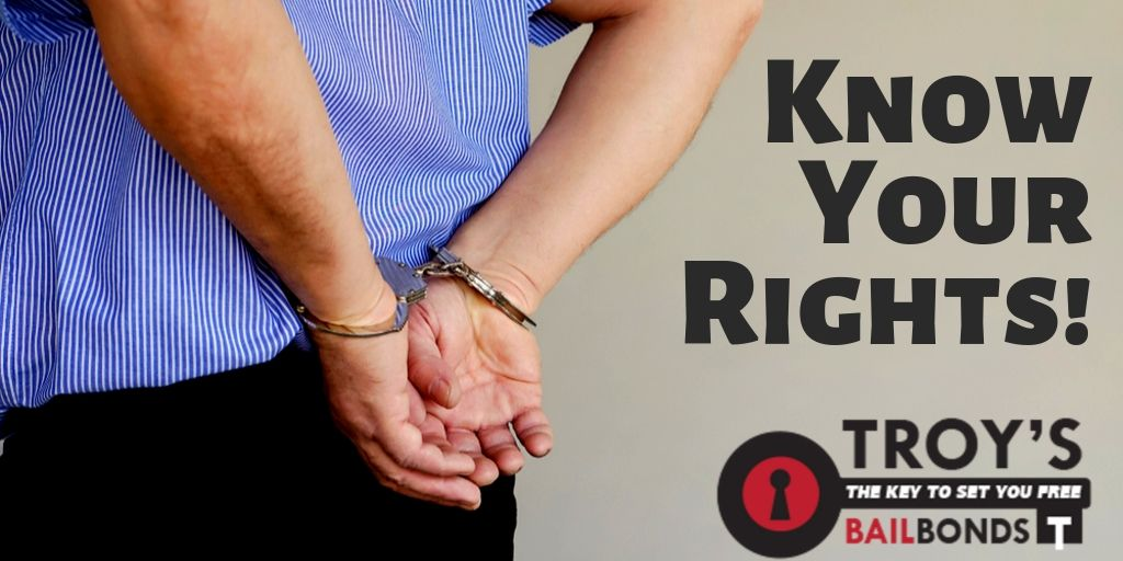 Knowing your rights is of the utmost importance, call today! #BailBonds #Arrested
