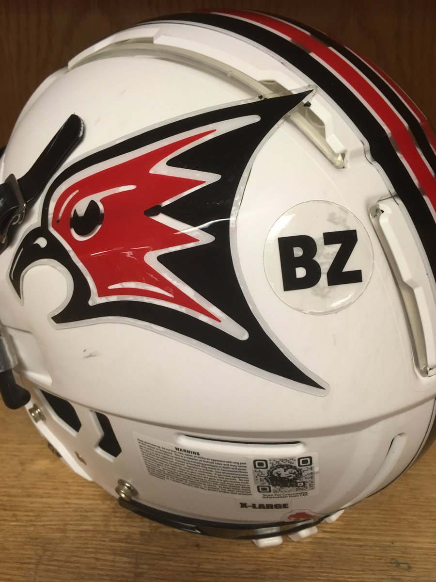Today #FalconFootball players will be wearing a 'BZ' helmet sticker in honor of former teammate, Ben Zayzay, who passed away unexpectedly last week. He was a great player, a better person, and positively impacted everyone in the Falcon Football Family <br>http://pic.twitter.com/3SzGz4FpeH