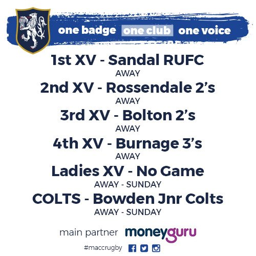 test Twitter Media - Plenty of weekend madness to look forward to! See the upcoming games below! #MaccRugby 🏉 https://t.co/ihd1L8aoJm
