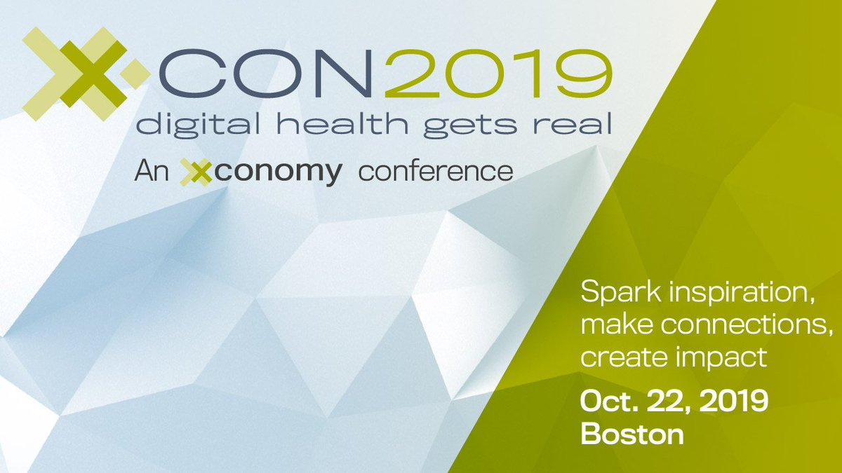 There is still an opportunity to register for #XCONboston happening  this Tuesday! #DigitalHealth #HealthTech #DTx #healthcare #Boston @Xconomy @evankirstel @eViRaHealth   Use code eViRa20 for 20% off: https://t.co/r0kC7W9fHD   More details ⤵️