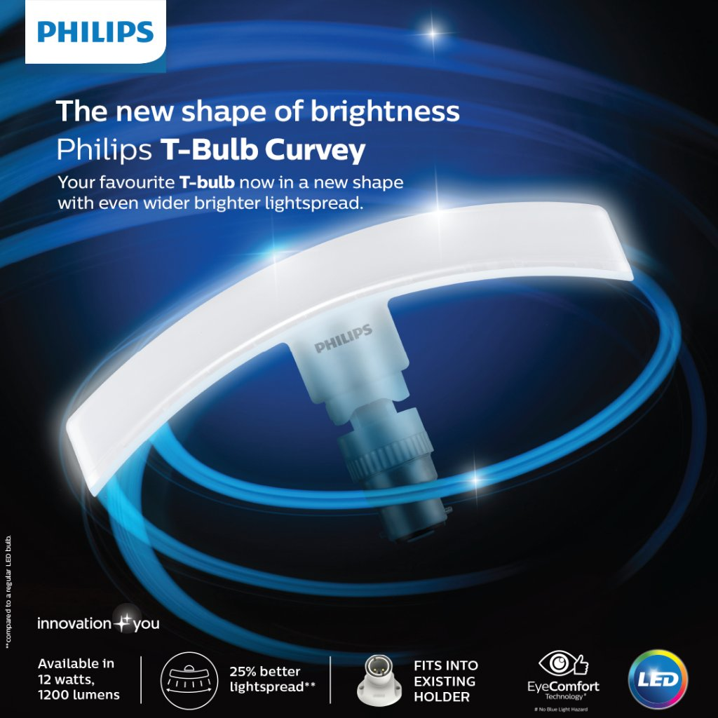 This Diwali, get an even wider amp brighter lightspread with our Philips T Bulb Curvy. PhilipsTBulbCurvy LED https t