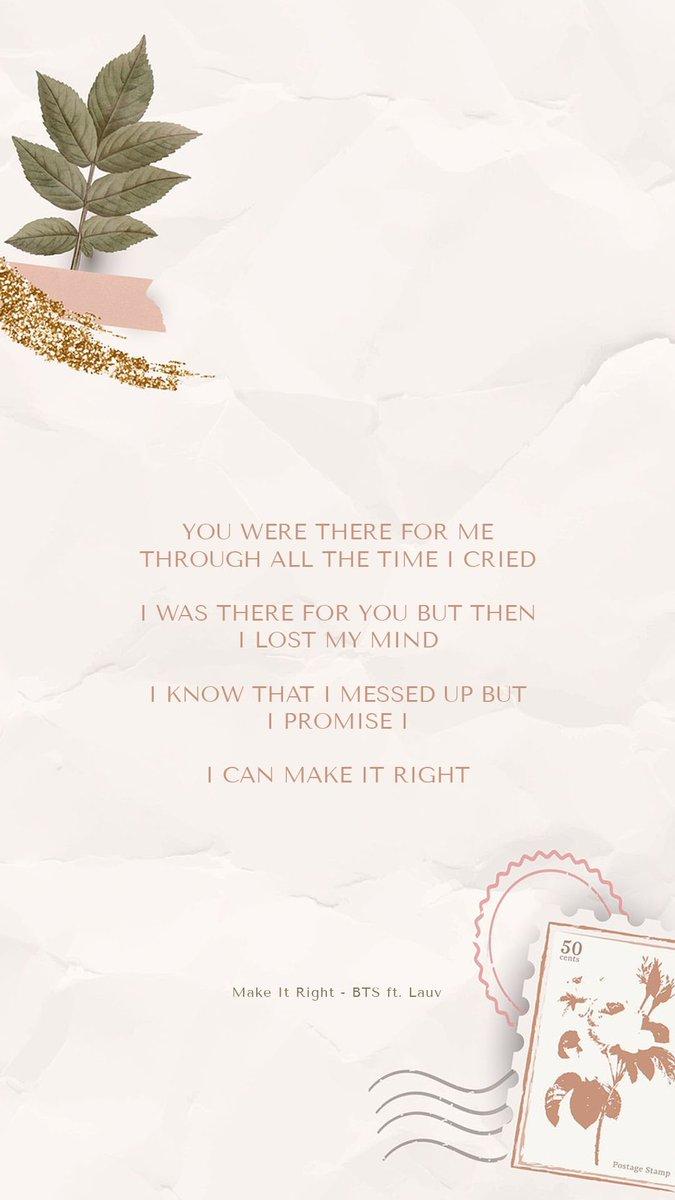 Bts Lyrics On Twitter But I Promise I Can Make It Right