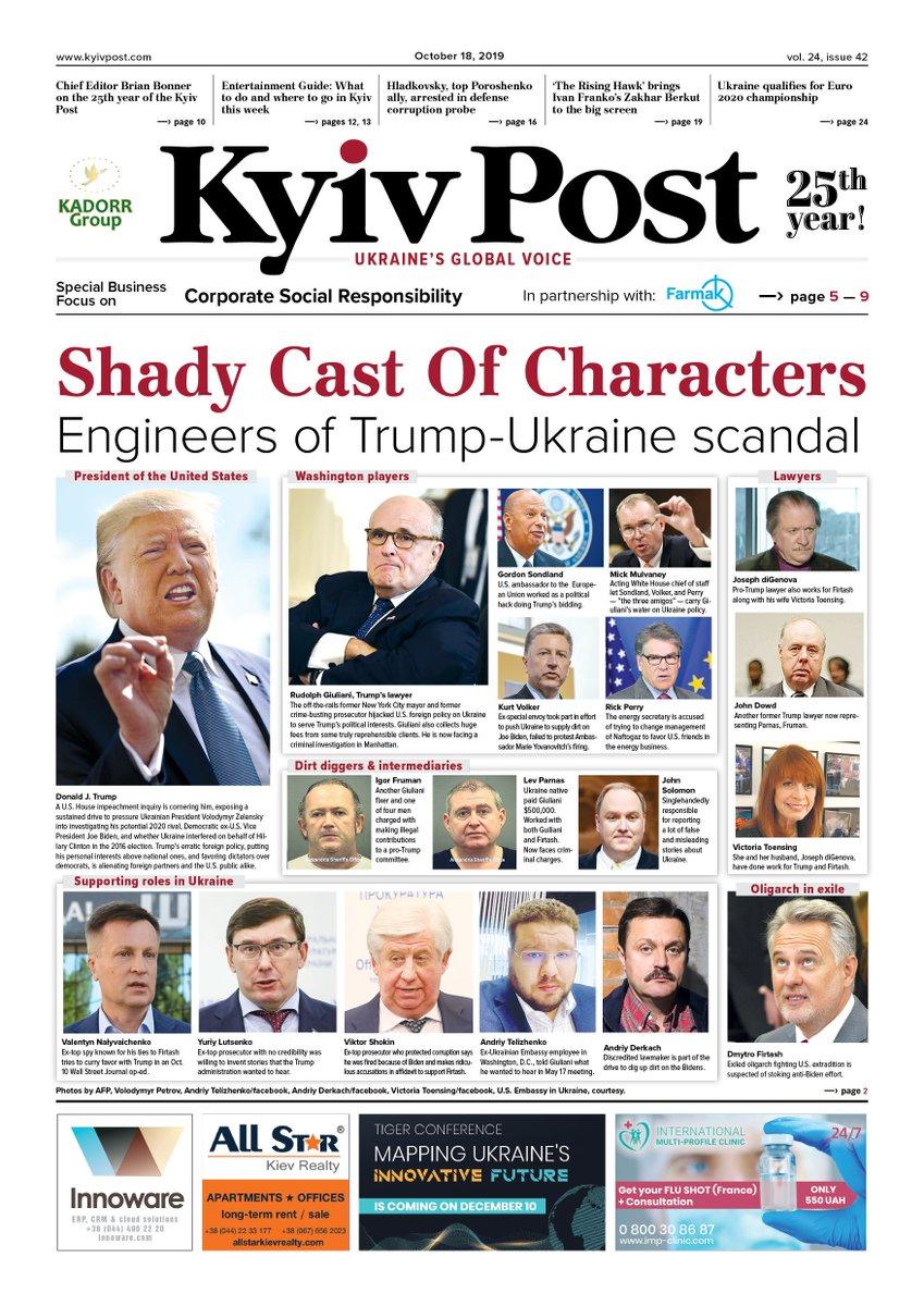Replying to @KyivPost: Kyiv Post. Friday, Oct. 18, 2019