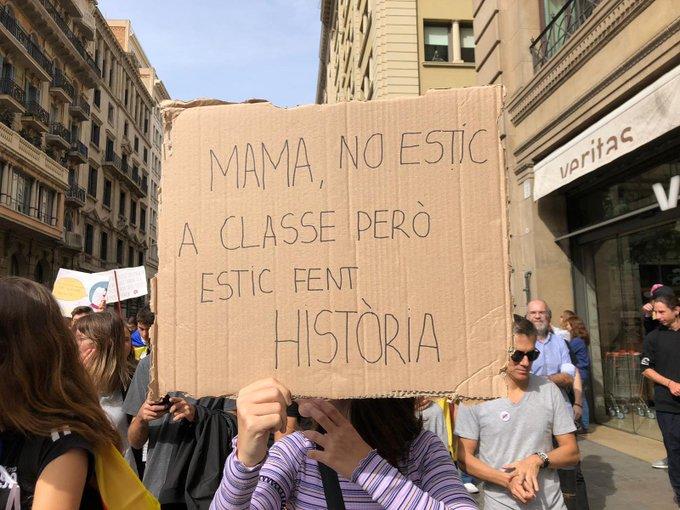 manifestation barcelone