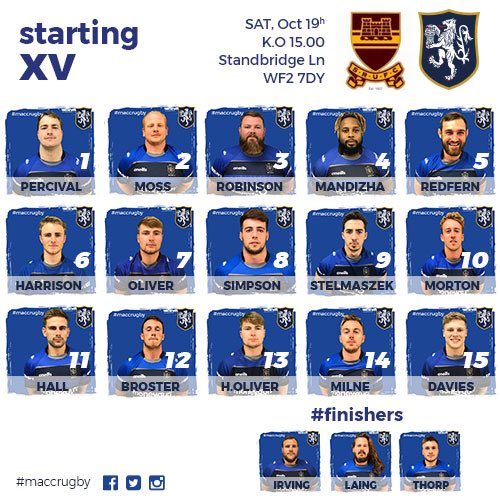 test Twitter Media - TEAM NEWS!!! Here's the side to travel to @sandalrufc and the main news is the return of @TomMorton1010 #maccrugby https://t.co/mmaQcHpWMe